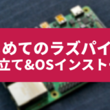はじめてのラズパイ【セットアップ&OSインストール】